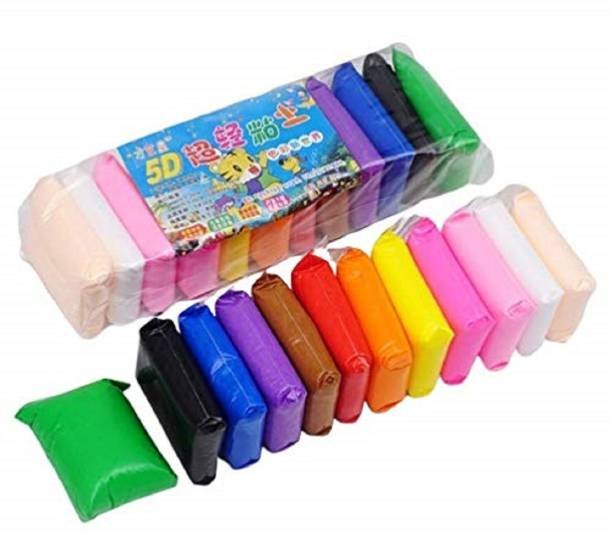 gyan DIY Colourful Non-Toxic Modeling Air Dry Clay with Tools