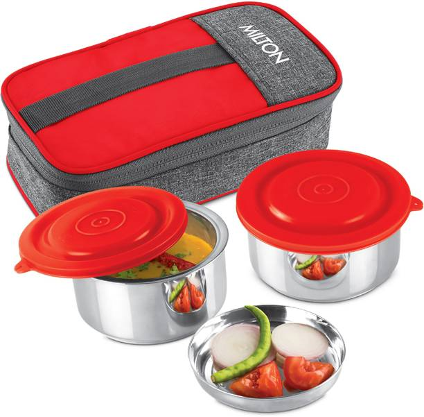 MILTON CSOFFST078REDD0001 2 Containers Lunch Box