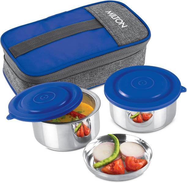 MILTON CSOFFST078BLUE0001 2 Containers Lunch Box