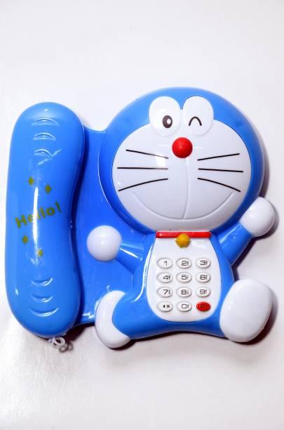 RUHELA ENTERPRISES Battery Operated Doraemon Musical Cartoon Phone with Light Music Telephone Cartoon Phone for Kids Baby Phone