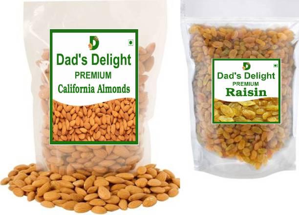 Dad's Delight Premium Almonds 200 gm + Premium Raisins 200 Almonds, Raisins