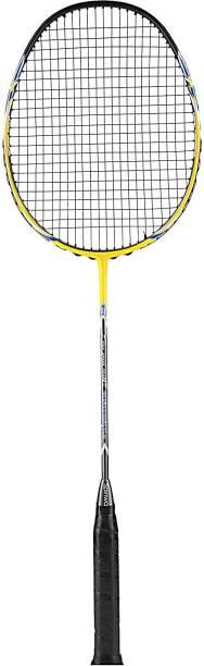 Spinway Professional Badminton Racket, Tornado Power M1 Racquet Yellow Unstrung Badminton Racquet