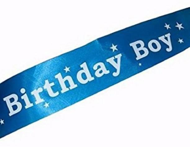 seal the deal Blue Birthday Boy Sash-Blue