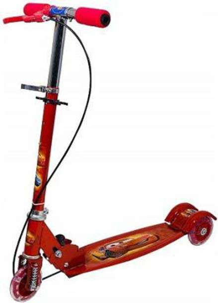 fizz 3 Wheel Foldable Scooter With Height Adjustment And LED Lights On Wheels With Bell kids Cycle Scooter (MULTICOLOR) Kids Scooter