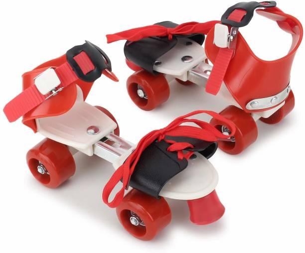 RISING BABY Skates Shoes For Kids / Childrens - UNISEX In-line Skates - Size 12-16 UK Quad Roller Skates - Size 4-7 UK In-line Skates - Size 5-7 UK In-line Skates - Size 5-7 UK (Red Black) In-line Skates - Size 5-7 UK