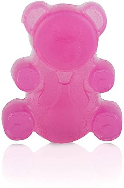 Nature's Touch Handmade Teddybear Glycerin Soap for Kids   Gentle On Skin   Paraben & Sulphate Free Soft On Skin   Organic Soap For Babies, Rose