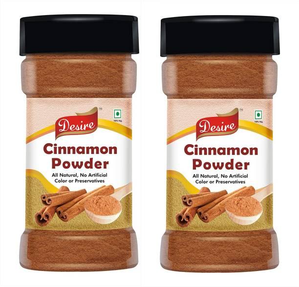 Desire Foods Cinnamon Dalcheeni Powder 100 Gram (Pure & Natural) Pack of 2.