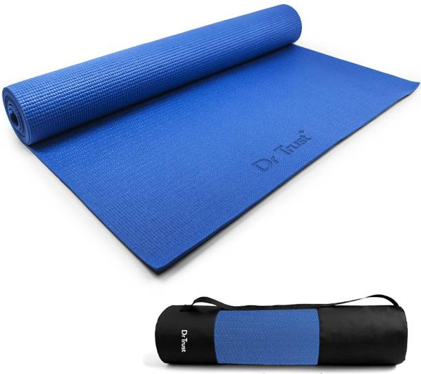 Dr. Trust (USA) EcoFriendly Exercise Gym mats For Men & Women With Carrying Cover Bag Blue 6 mm Yoga Mat