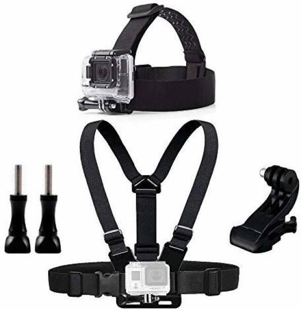 Action Pro Chest Head Belt Mount for Gopro Hero 5 4 Accessories Set SJCAM SJ4000 Action Camera Go Pro J Mount for Head Harness Strap 20 Strap