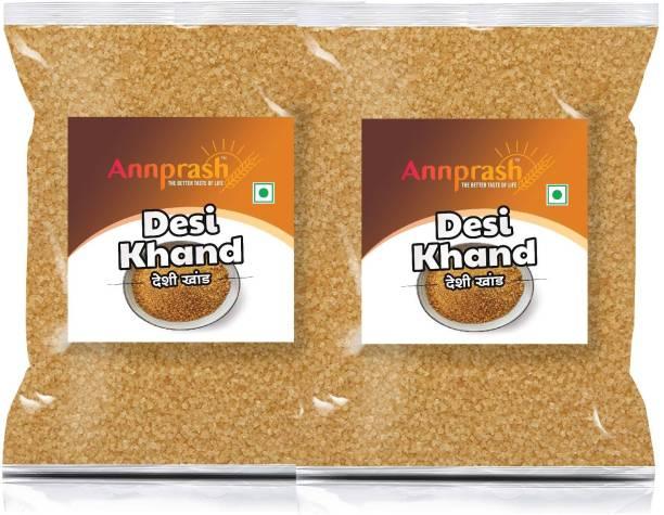 ANNPRASH PREMIUM QUALITY DESI KHAND 1KG ( 500GMx2) Sugar