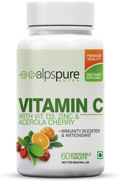 ALPSPURE Vitamin C Immunity Booster Antioxidant Tablets D3 Zinc