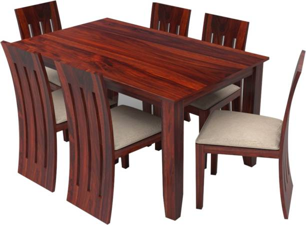Suncrown Furniture Solid Wood 6 Seater Dining Set
