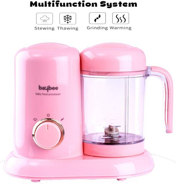 baybee Smart 4 in 1 Baby Food Processor with Steamer & Grinder, Multi-Purpose Baby Food Blender for Cooking ,baby food blender /baby food makers/ Healthy Organic Food, Ideal for Baby, BPA Free -Pink