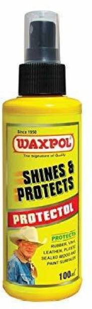 waxpol Liquid Car Polish for Leather, Tyres, Dashboard, Metal Parts, Chrome Accent, Exterior
