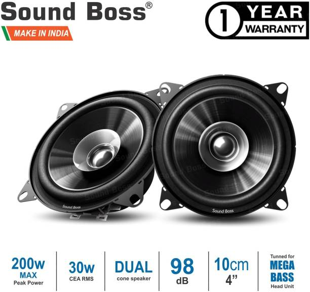 "Sound Boss Dashboard 4"" Dual Performance Auditor 200W MAX B1015 Coaxial Car Speaker"