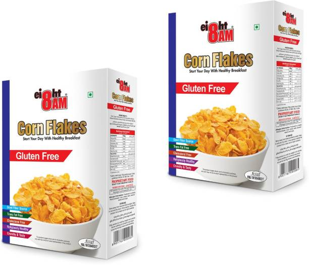 8AM by V.R. Industries (P) Ltd. Gluten Free Corn Flakes (Pack of 2)