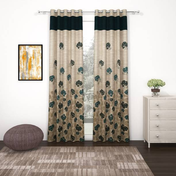 Story@home 275 cm (9 ft) Jacquard Long Door Curtain (Pack Of 2)