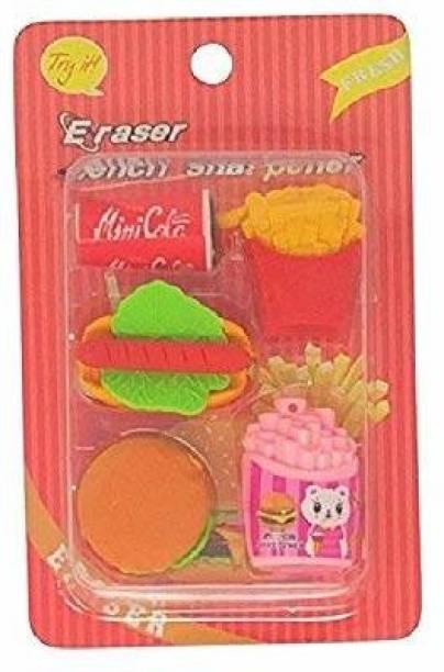 Parteet Lovely Mic Shape Eraser for Kids Non-Toxic Eraser