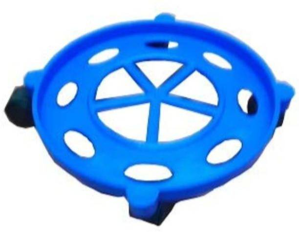 Sukot Strong Version Plastic Gas Cylinder Trolley with Wheel Gas Cylinder Trolley(Blue) Gas Cylinder Trolley