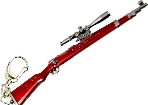 eweft Pubg Kar98 Exclusive Premium Quality Metal Keychain (Brown) Player Unknown Battle Ground Kar98 Key chain PUBG Gun Sniper Key Ring / Key Chain Key Chain