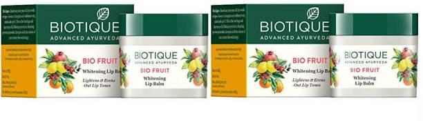 BIOTIQUE Fruit Lip Balm 12g*2Pcs Fruit