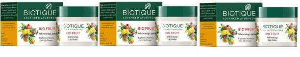 BIOTIQUE Fruit Lip Balm 12g*3 Pcs Fruit