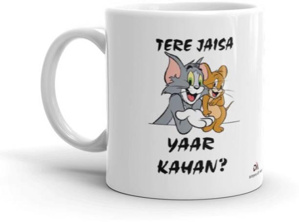 dm enterprises Trending Tera Jesa Yaar Kha Tom & Jerry _ Best Gift For Friends _ Ceramic Coffee Mug