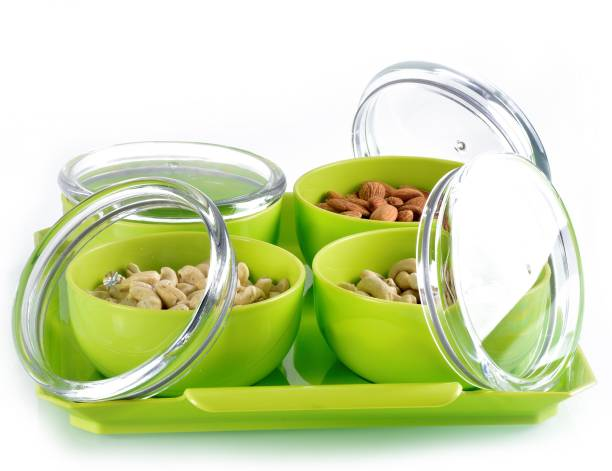 SPEACK Woman's 1st Choice Serving Set / Bowl / Bowl Set / Airtight Container With Tray And Lid For / Aachar / Pickle / Salad / Dryfruit / Dessert / Snacks / Chocolate / Candy / Masala Bowl, Tray, Container Serving Set