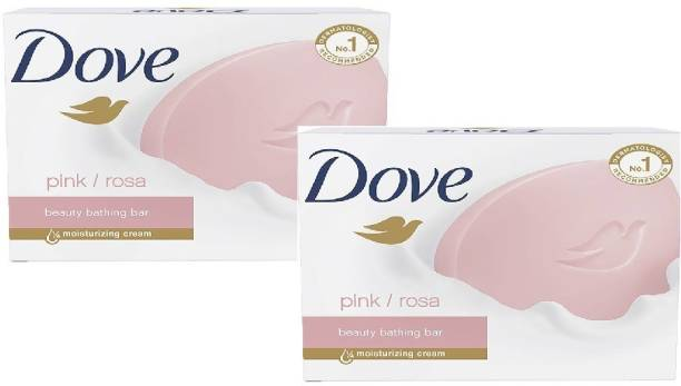 DOVE Imported Pink Rosa Beauty Bar, Pack of 2 Each 135 G