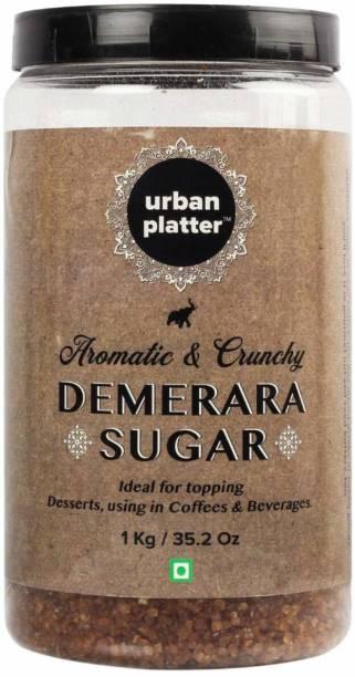 urban platter Demerara Sugar, 1Kg / 35.2oz [Aromatic, Crunchy & Ideal for Dessert Topping] Sugar