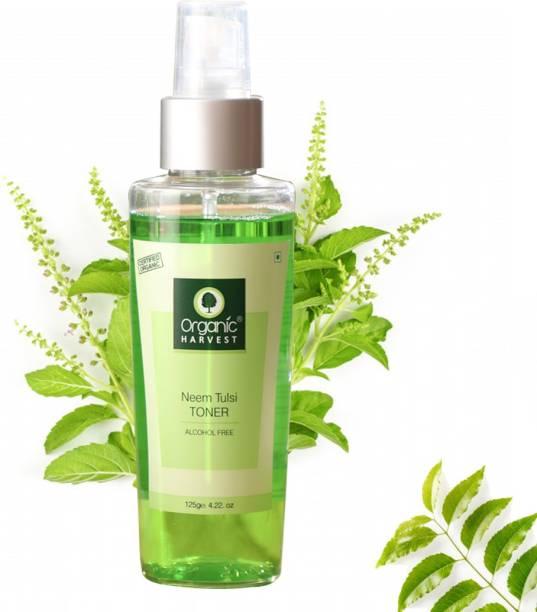 Organic Harvest Neem Tulsi Toner For Men & Women, Minimising Large Open Pores, Removes Excess Oil, Best Organic Toner Spray For All Skin Type, 100% Organic, Paraben & Sulphate Free – 125 ml Men & Women