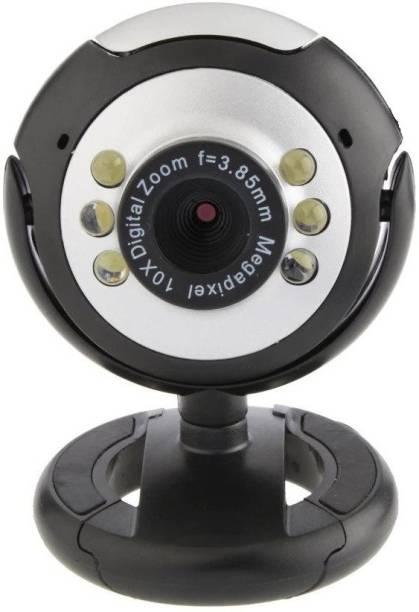 CRETO QHM495LM 30MP PLUG & PLAY High Definition Camera Webcam with Microphone, Night Vision & Adjustable Lens  Webcam