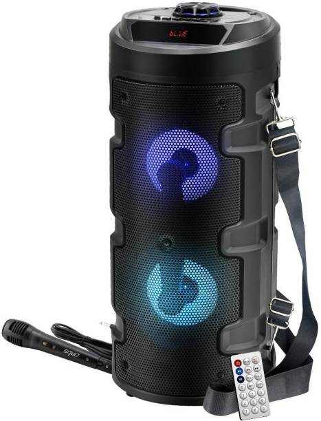 artis MS301 Wireless Bluetooth Portable Party Speaker with RGB Glow Lights, Wired Mic, Remote Control, FM Radio & Aux in/USB/TF Card Reader Input 20 W Bluetooth Speaker