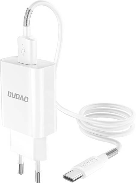 DUDAO A3EU High Current Fast Phone Wall Charger Adapter | Type C Cable Included | Type C Mobile 2.4 A Mobile Charger with Detachable Cable
