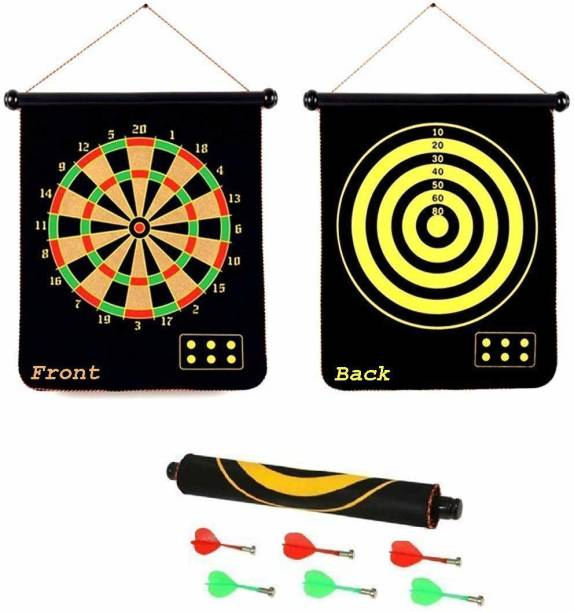 "Miss & Chief Double Sided Magnet Dart Board 17"" Dart Board Board Game"