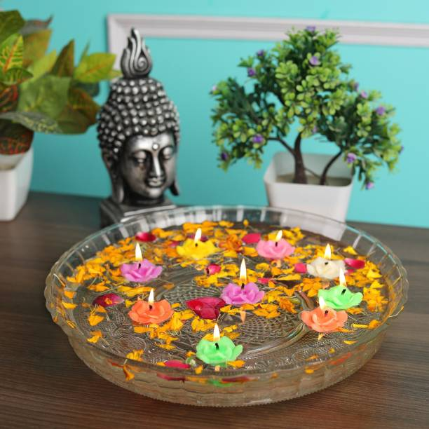 Vibhima Trunkbox Floating Candles Pack of 12 Candle