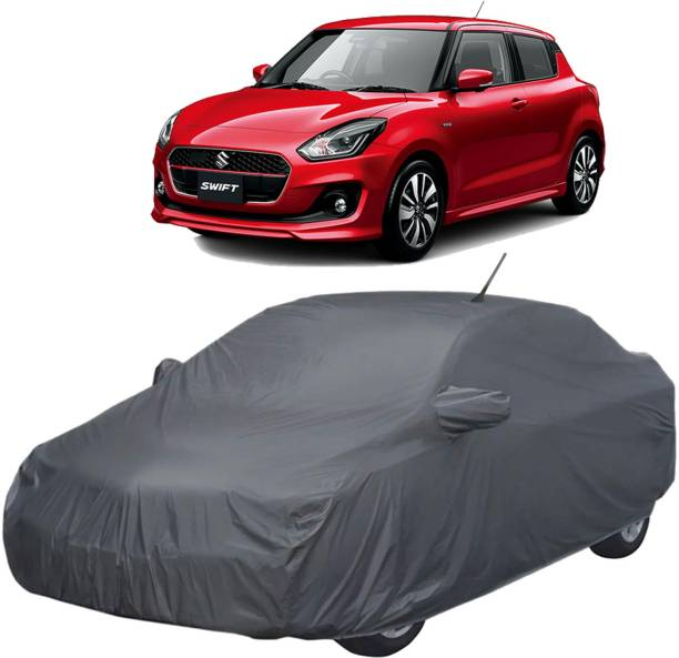UK Blue Car Cover For Maruti Swift (With Mirror Pockets)