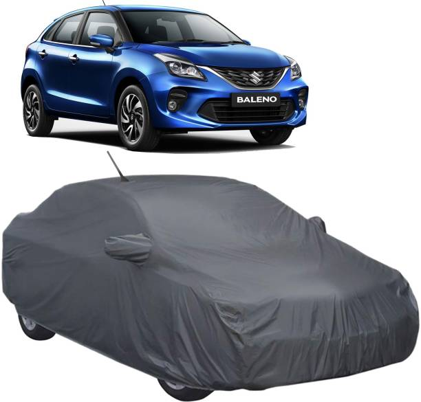 UK Blue Car Cover For Maruti Baleno (With Mirror Pockets)