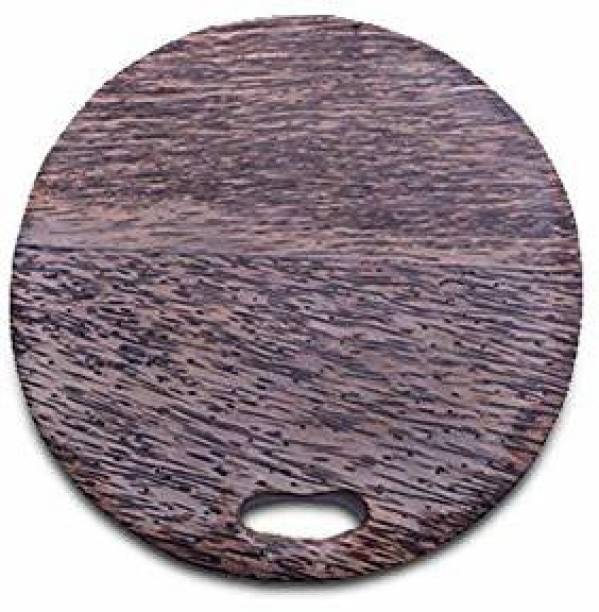 The Indus Valley Palm Wood Chopping Board Circle Wooden Cutting Board
