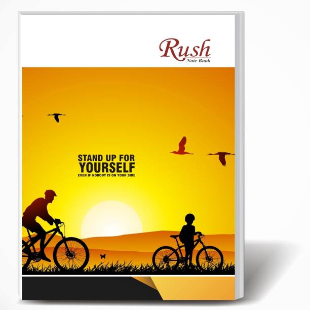 Rush 452 Pages A4 Note Book | Pack of 5 | Single Line Ruled A4 Size | 29 x 21 CM | A4 Registers | Notebook Copy for Students of School, College and Office Use | Combo Set of Notebooks Or Long Register A4 Notebook Single Line Ruled 452 Pages