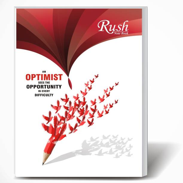 Rush 360 Pages A4 Note Book | Pack of 6 | Single Line Ruled A4 Size | 29 x 21 CM | A4 Registers | Notebook Copy for Students of School, College and Office Use | Combo Set of Notebooks Or Long Register A4 Notebook Single Line Ruled 360 Pages