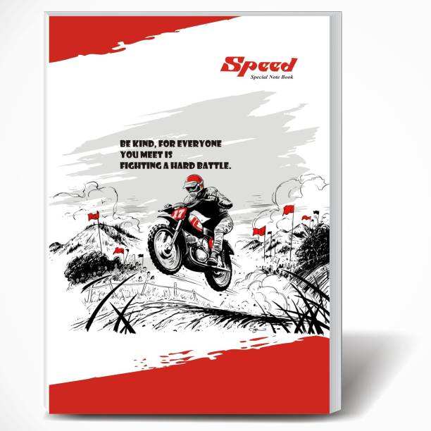 Speed 360 Pages Semi Rough A4 Note Book | Pack of 6 | Single Line Ruled A4 Size | 29 x 21 CM | A4 Registers | Notebook Copy for Students of School, College and Office Use | Combo Set of Notebooks Or Long Register A4 Notebook Single Line Ruled 360 Pages