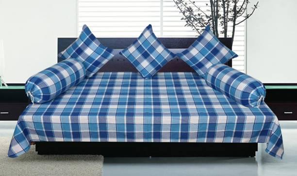 SBN Newlifestyle Cotton Checkered Diwan Set