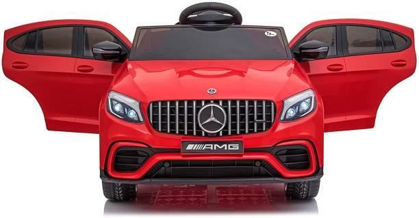 Toy House Mercedes Benzy GLC63 Battery Operated Ride-On Swing Function Car with Remote for Kids Jeep Battery Operated Ride On
