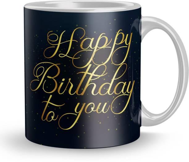 Fifth and Moon Birthday Gift for Girls wife husband girlfriend boyfriend on Birthday love Valentines Day and AnniversaryFM-HB-104 Ceramic Coffee Mug