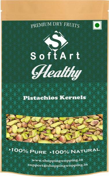 Soft Art Healthy Pista Kernels (without shell) Vaccum Pack Pista (100 grams) Pistachios