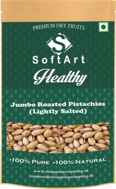 Soft Art Healthy Jumbo Pista (with shell) Vaccum Pack Pista (100 grams) Pistachios