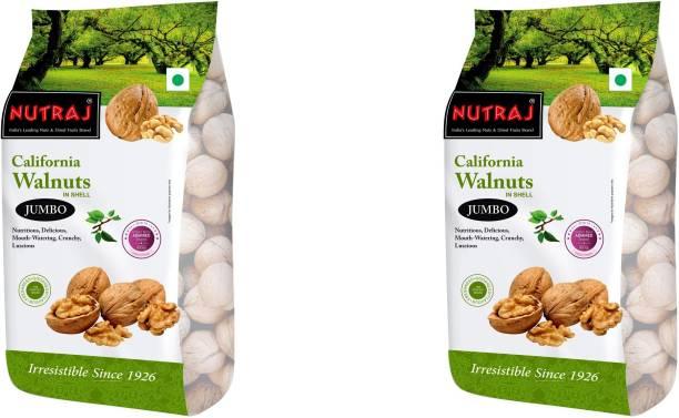 Nutraj California Walnuts Inshell (Pack of 2) Walnuts