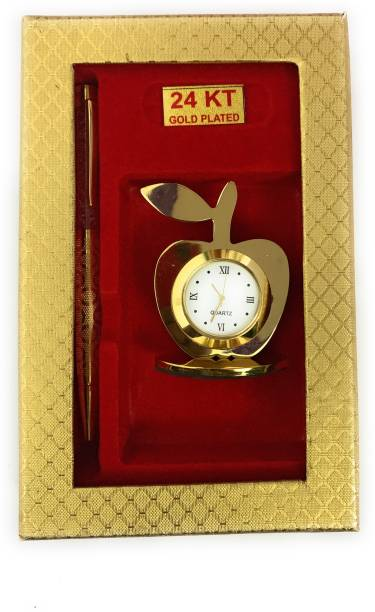 RELBEES 2 Compartments GOLD PLATED OFFICE SET