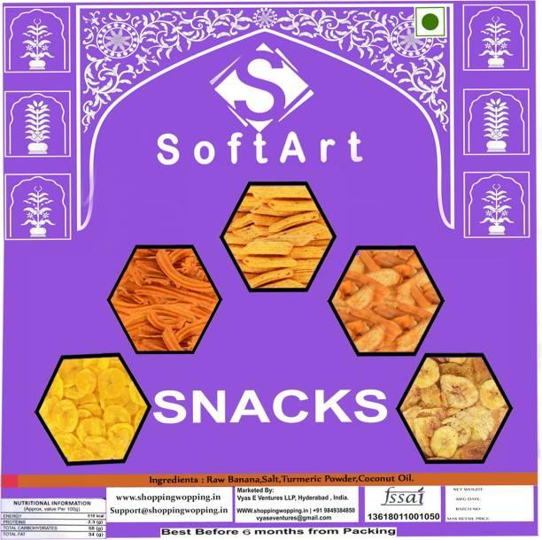 Soft Art Chatpata Banana Chips (250g) Chips